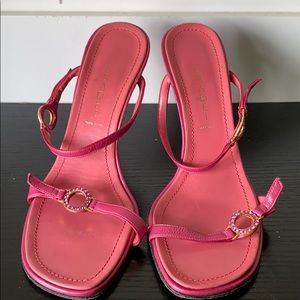 Casadei Hot Pink Sandal Heels